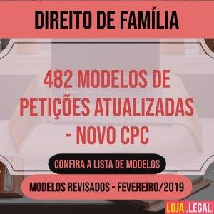 482 modelos de Direito de Família – Novo CPC