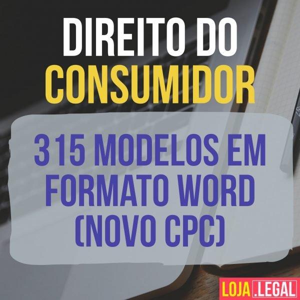 315 Modelos De Petições Em Formato Word Direito Do Consumidor Novo Cpc