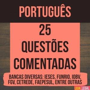 25 questões comentadas – português