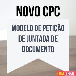 Modelo de petição de juntada de documento