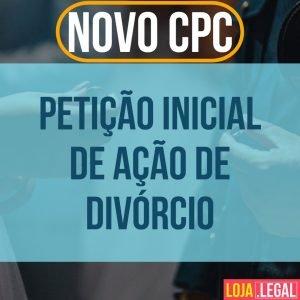 Modelo de petição inicial de ação de divórcio