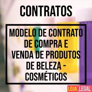 Modelo de contrato de compra e venda de produtos de beleza – cosméticos
